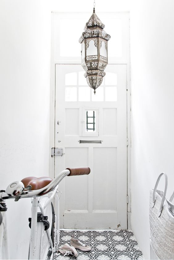 Moroccan lamps dress up any entryway   Bohemian eclectic decor   Girlfriend is Better