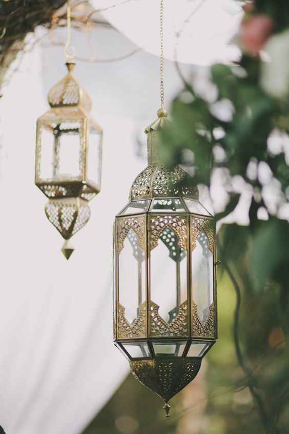 Hang Moroccan lamps from a tree   Bohemian eclectic decor   Girlfriend is Better