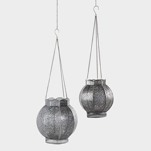 Zinc Filigree Pari Hanging Lantern   Cost Plus World Market