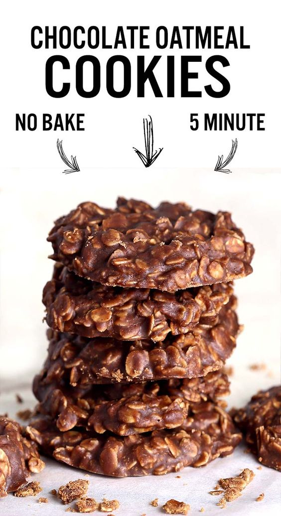 Chocolate No Bake Cookies recipe   Quick + easy high protein   Girlfriend is Better