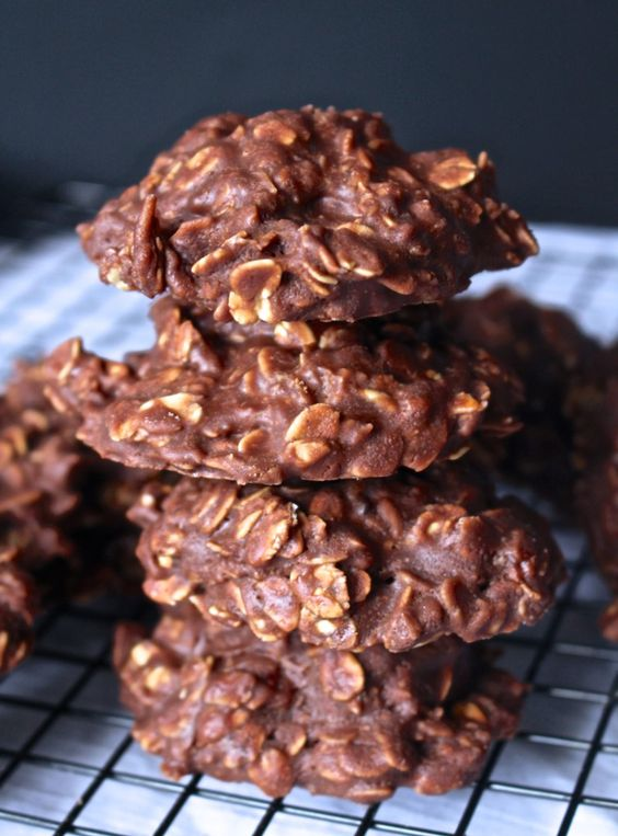 Chocolate No Bake Cookies recipe   High protein, low glycemic   Girlfriend is Better