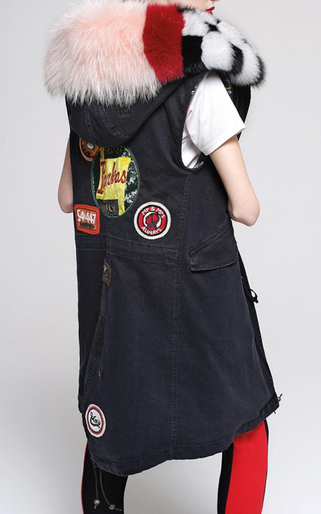 Moda Operandi Intarsia Fur Collar Waistcoat   Patches guide   Girlfriend is Better