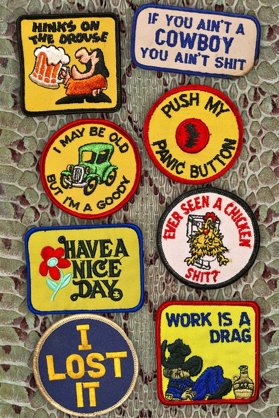 Sayings of the 70s vintage patches   Backbite   Girlfriend is Better