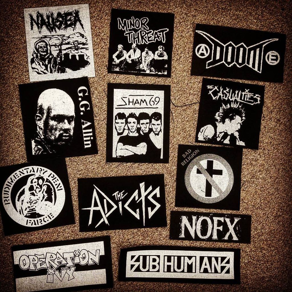 Punk embroidered patches   Angry, Young, and Poor   Girlfriend is Better