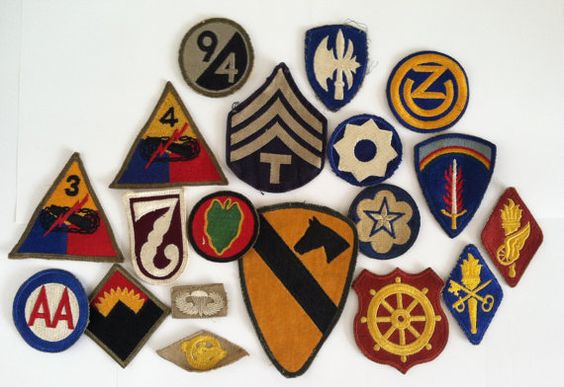 Vintage military patches   VintagePatchesUS via Etsy   Girlfriend is Better