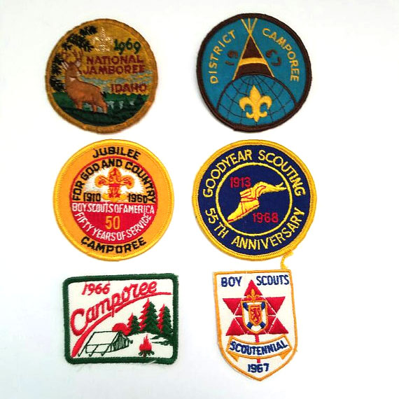 Vintage Boy Scout patches from the 60s   myvintagewhimsy via Etsy   Girlfriend is Better