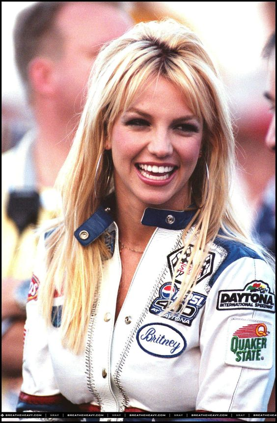 Patches on racing and bomber jackets   Britney Spears Nascar 400 in 2001   Girlfriend is Better