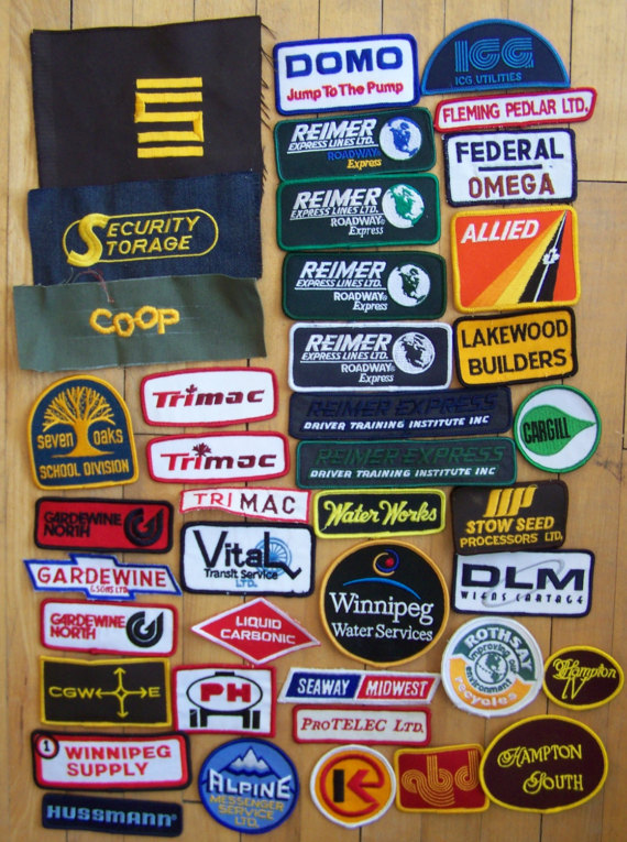 Vintage trucker patches   PicksByBear via Etsy   Girlfriend is Better