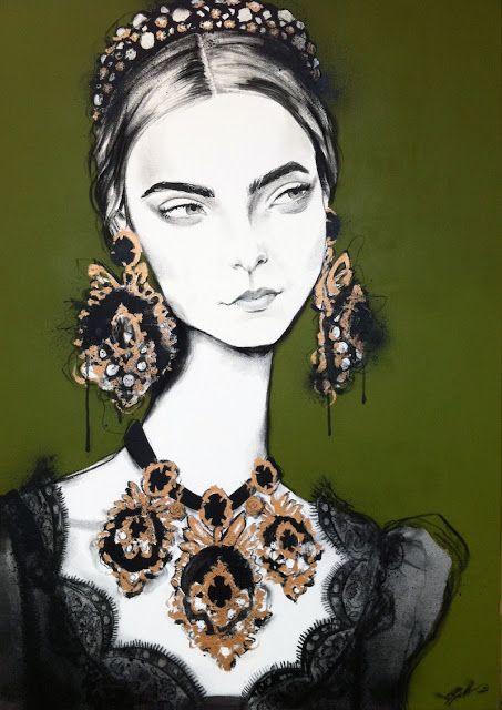 Fashion illustration by Pippa McManus | Girlfriend is Better