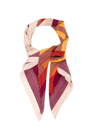 Herve Leger Silk Striped Scarf | Polyvore