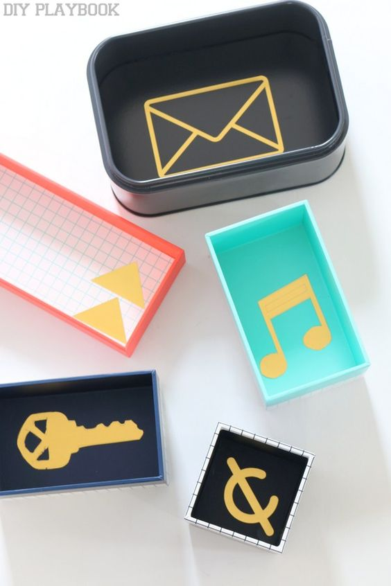 Use colorful boxes to organize a junk drawer | Girlfriend is Better