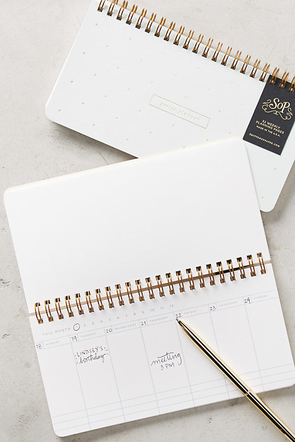 Petite Planner by Anthropolige perfect for party or event planners | Girlfriend is Better