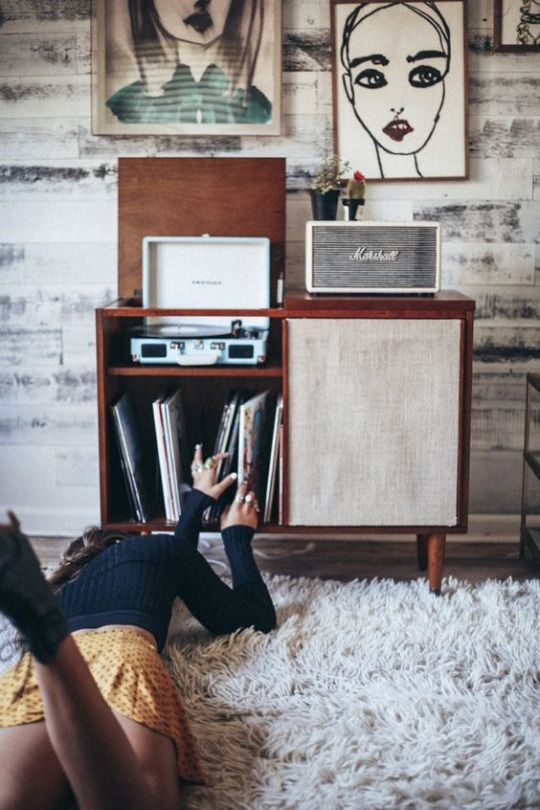 Mid-century modern record players and media cabinets   Girlfriend is Better