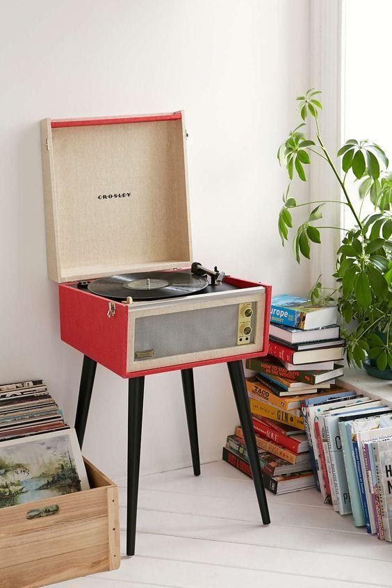 All-in-one record players   Crosley Dansette Bermuda USB Vinyl   Girlfriend is Better