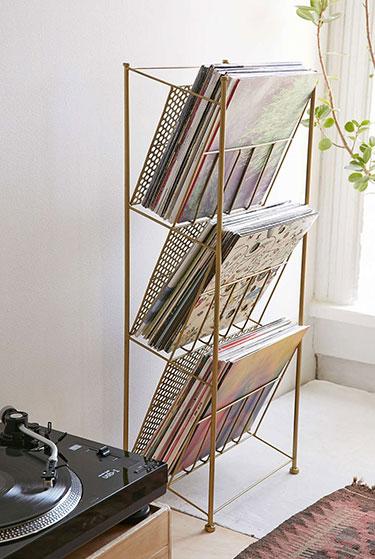 Corner Store Vinyl Storage Rack   Urban Outfitters