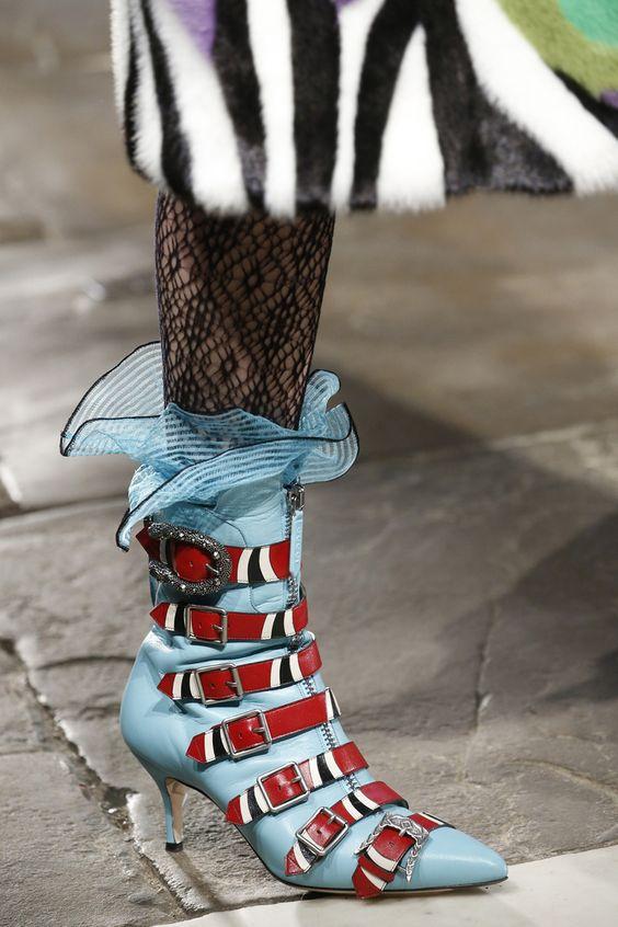 Ruffles on ankle socks via Gucci   Girlfriend is Better