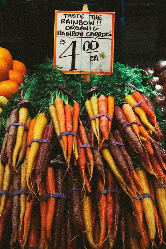 Rainbow carrots in Seattle WA   Chicken Pot Pie recipe ingredient   Girlfriend is Better