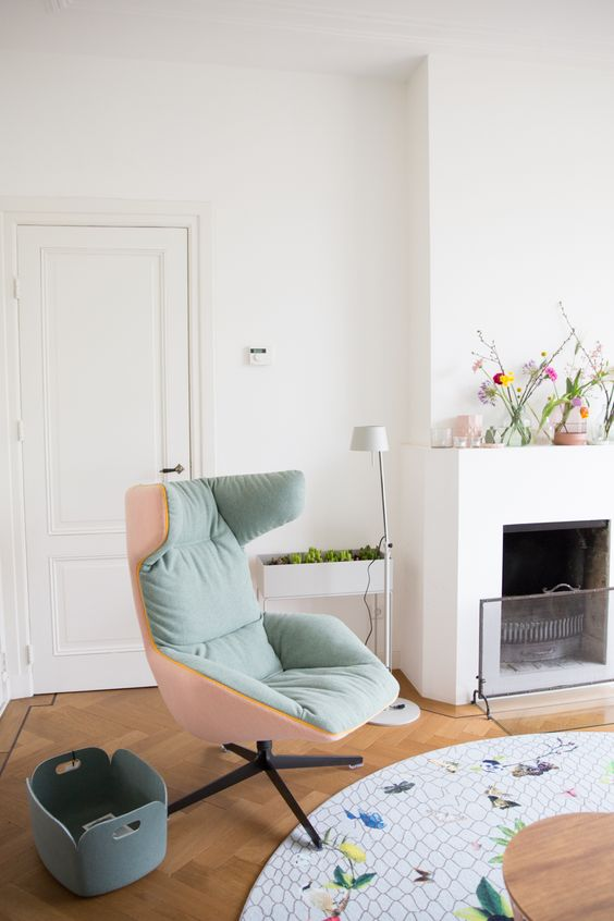 Cozy fireplace nook for knitting or baby | Girlfriend is Better