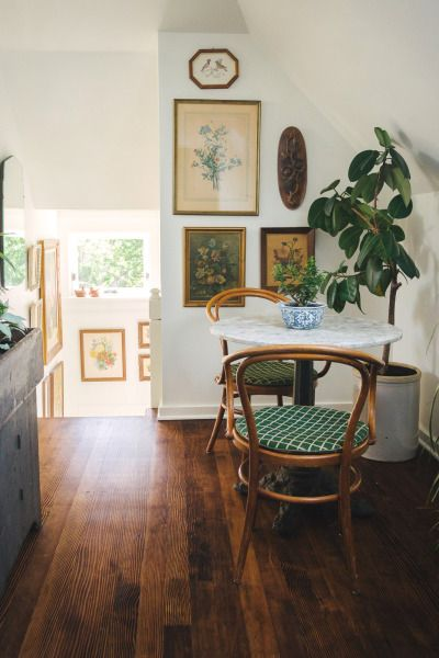 Dining nook with bistro table and chairs | Girlfriend is Better