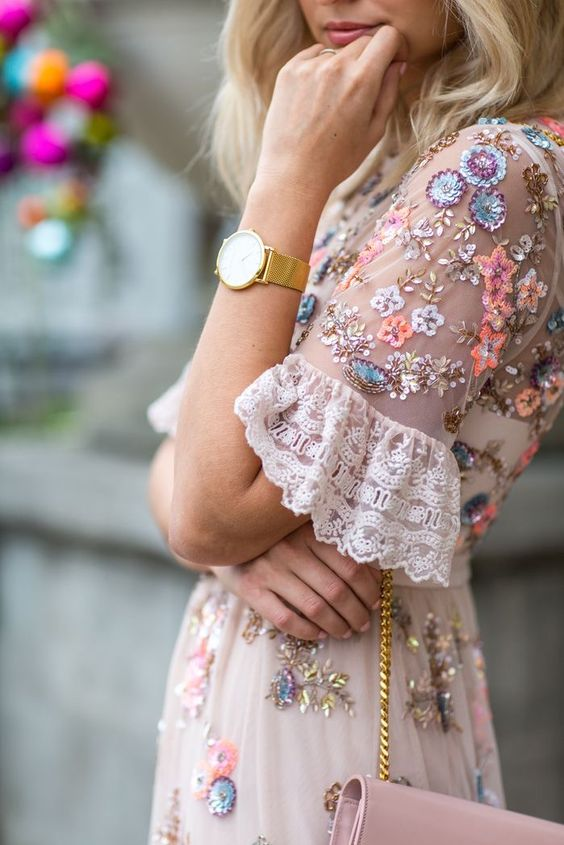 Sheer Spring dresses with lace and embroidery   Girlfriend is Better