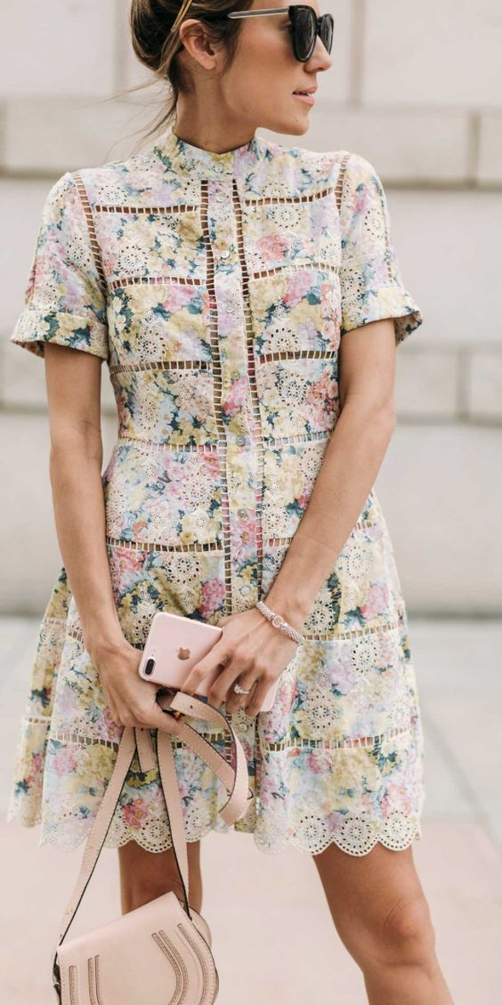 Spring dresses made pretty with eyelets + floral prints   Girlfriend is Better
