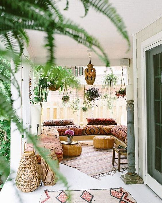 Bohemian sunroom with hanging plants   Girlfriend is Better