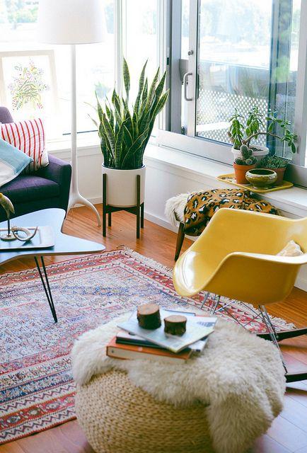 Bright and cheery mid-century modern sunroom   Girlfriend is Better