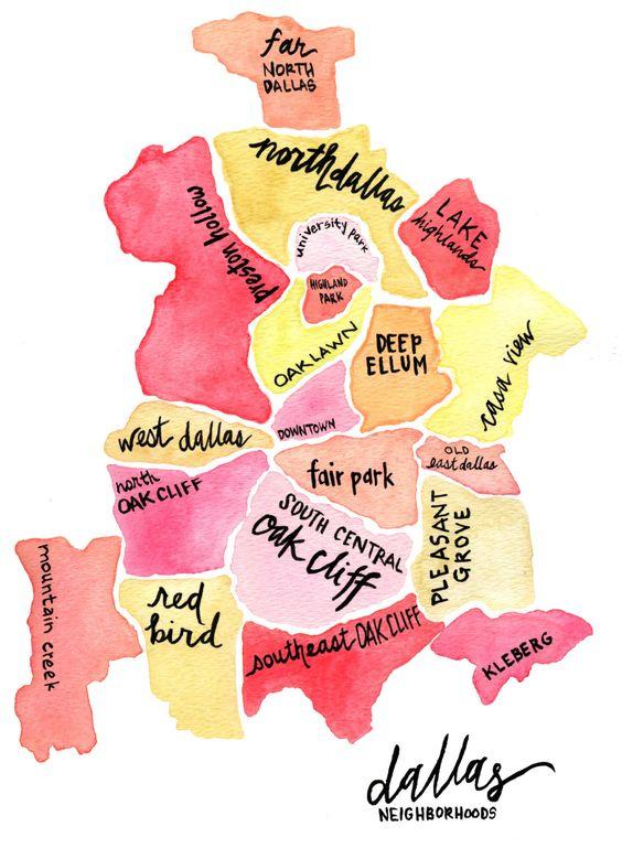 Map of Dallas, Texas neighborhoods   Girlfriend is Better