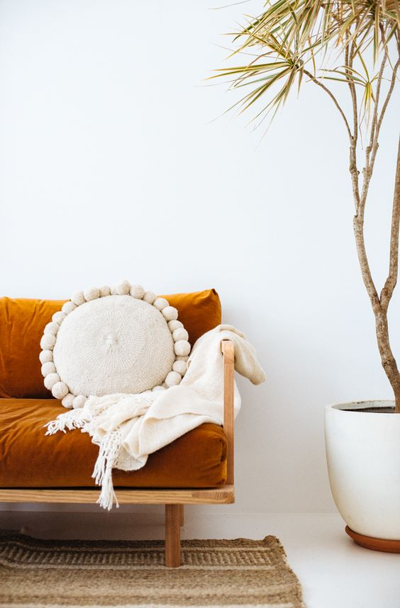 Pampa cushions warm up summer decor   Girlfriend is Better