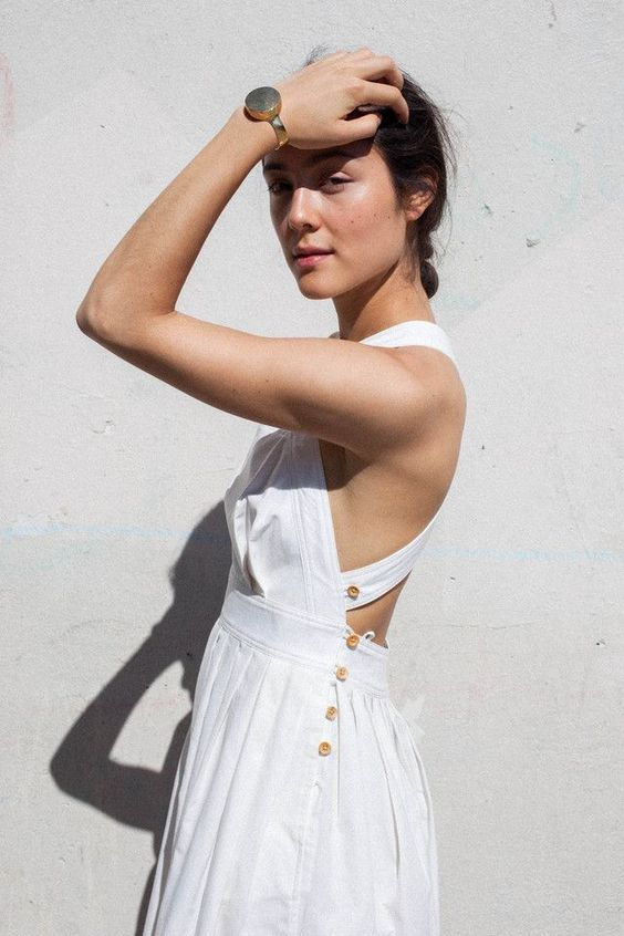 Pinafores with buttons | Simple cotton dresses for summer | Girlfriend is Better