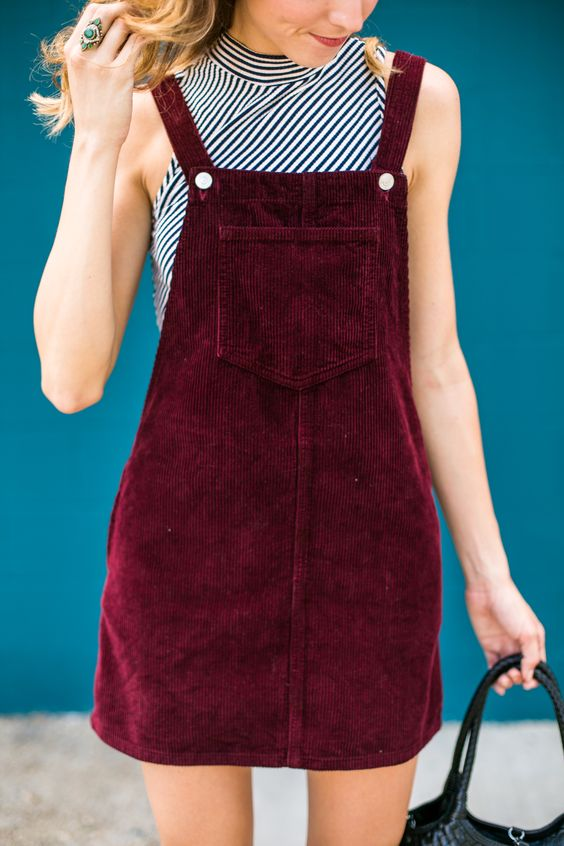 Pinafores and overalls in jewel tones | Girlfriend is Better