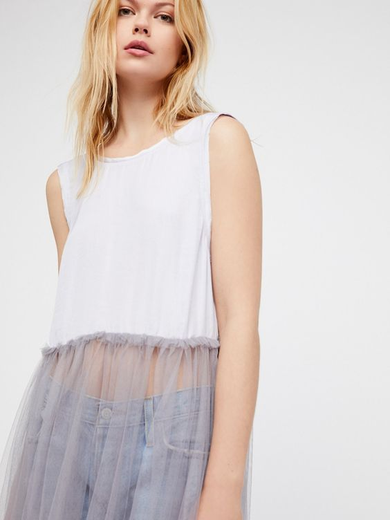 Half-tulle slips layered over skinny jeans   Girlfriend is Better