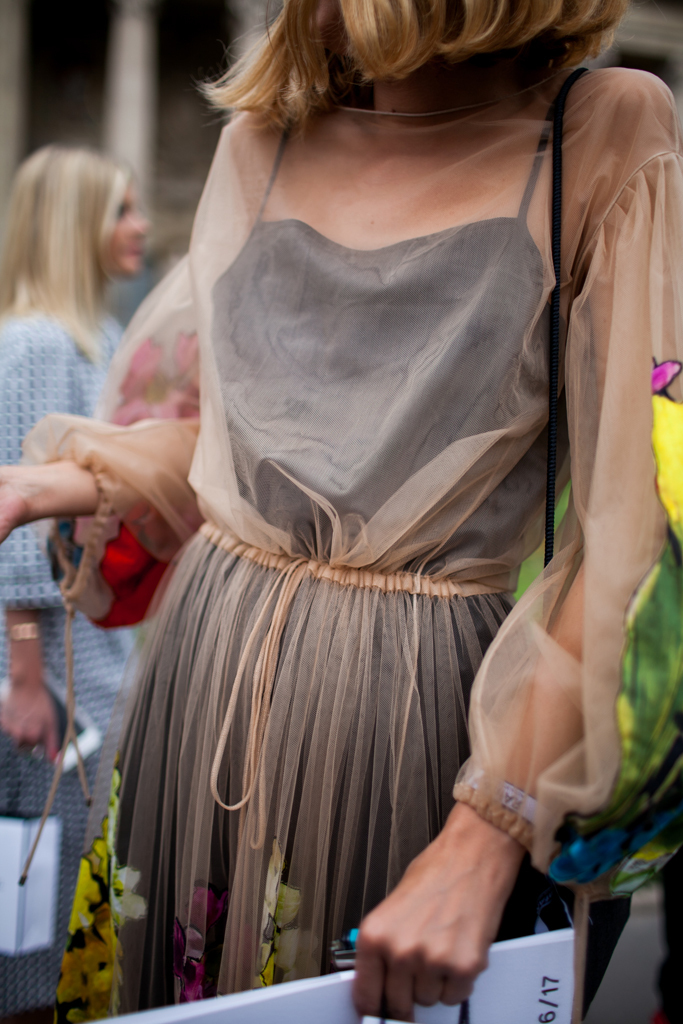 Nude slips layered over from fitting dresses   Girlfriend is Better