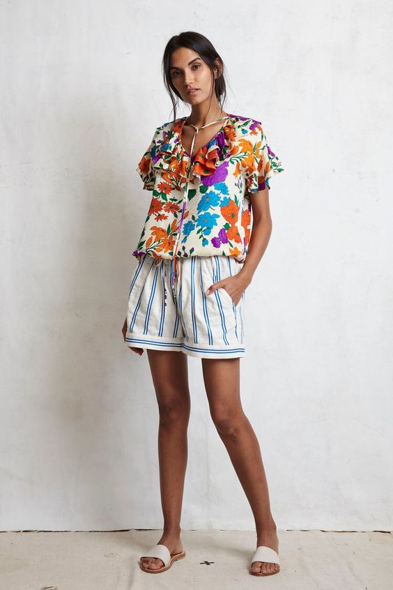 Print mixing stripes and florals for summer   Girlfriend is Better