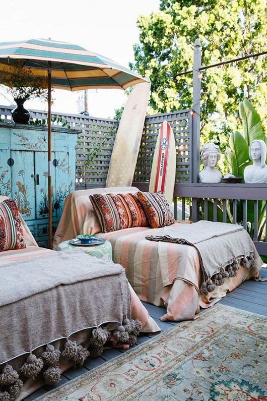 Bohemian patio surf shack hangout   Girlfriend is Better