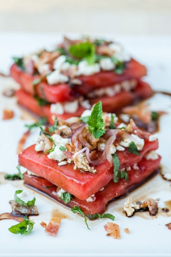 Savoury Watermelon Salad recipe | Girlfriend is Better