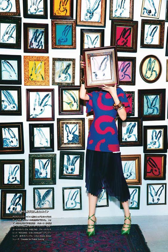 Hunt Slonem Rabbit paintings wallpaper   Girlfriend is Better