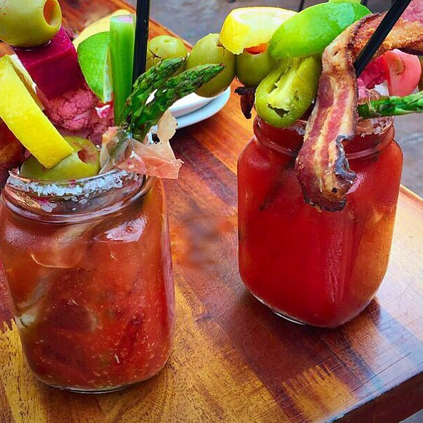 Bloody Mary bar at Davanti Enoteca Little Italy San Diego | Girlfriend is Better