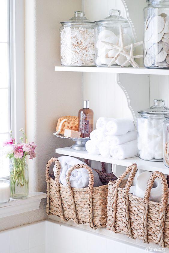 Open shelving in the laundry room | Girlfriend is Better