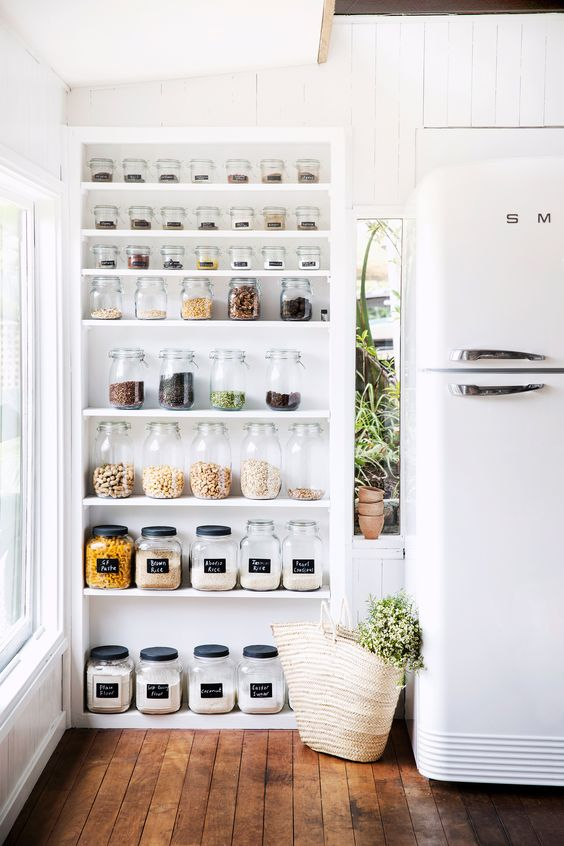 Organized pantry with open shelving | Girlfriend is Better