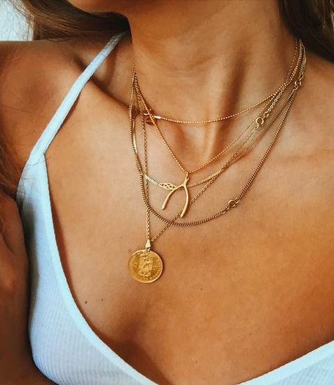 Messy layered coin necklaces and pendants | Girlfriend is Better