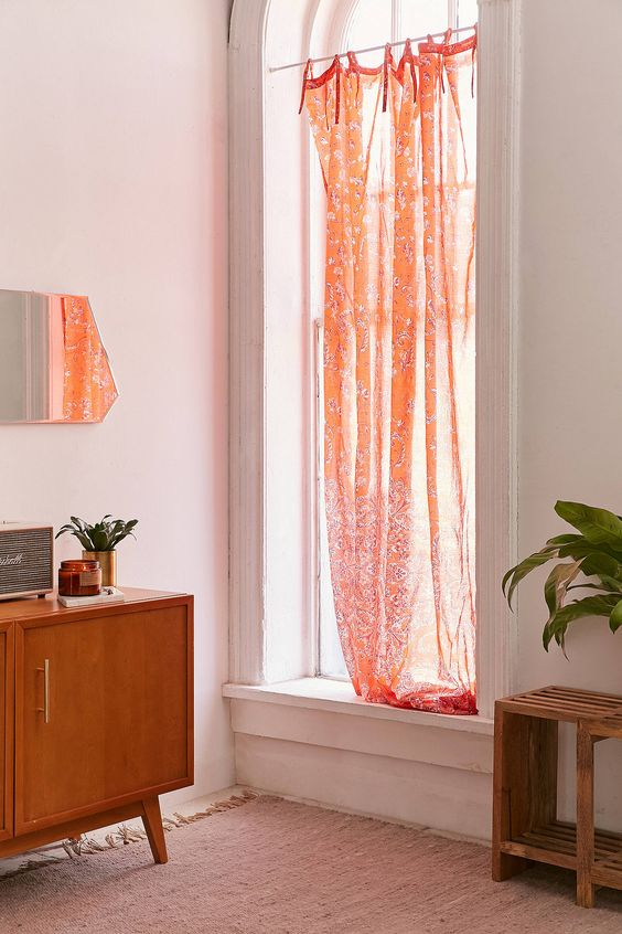Romantic red bedroom floral curtains | Girlfriend is Better