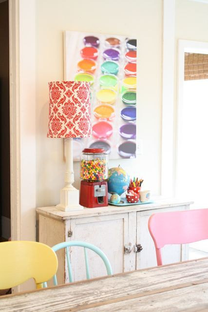 Rainbow dining chairs in light pastel color   Girlfriend is Better