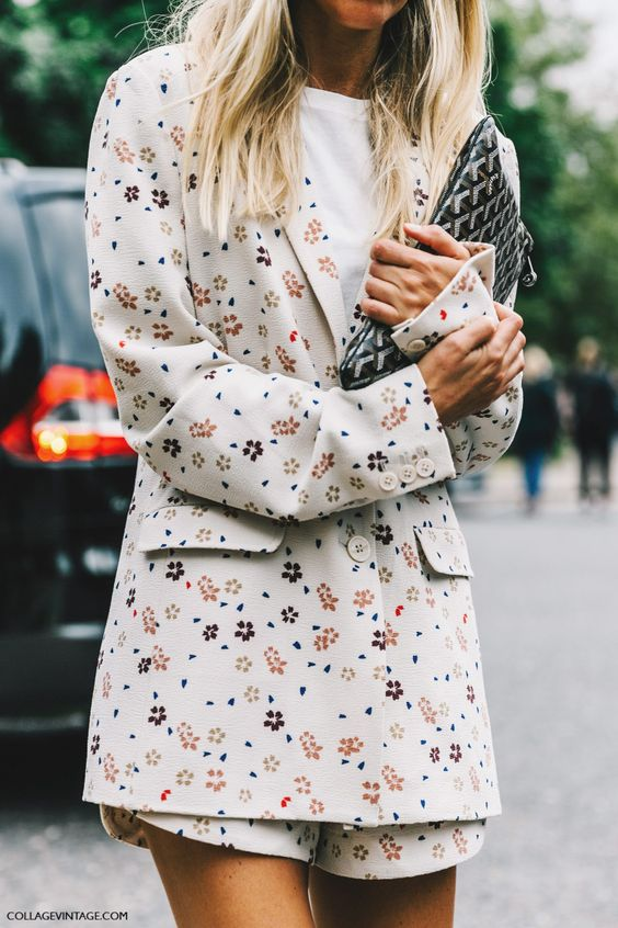 Floral shorts suit with long jacket   Girlfriend is Better