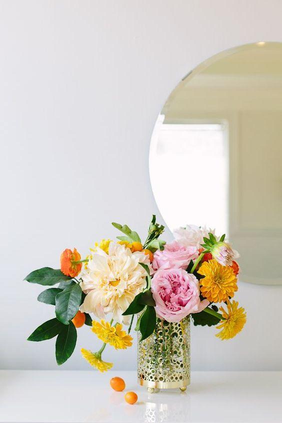 Libra astrology home decor guide | Marigolds October birthday flower bouquet | Girlfriend is Better