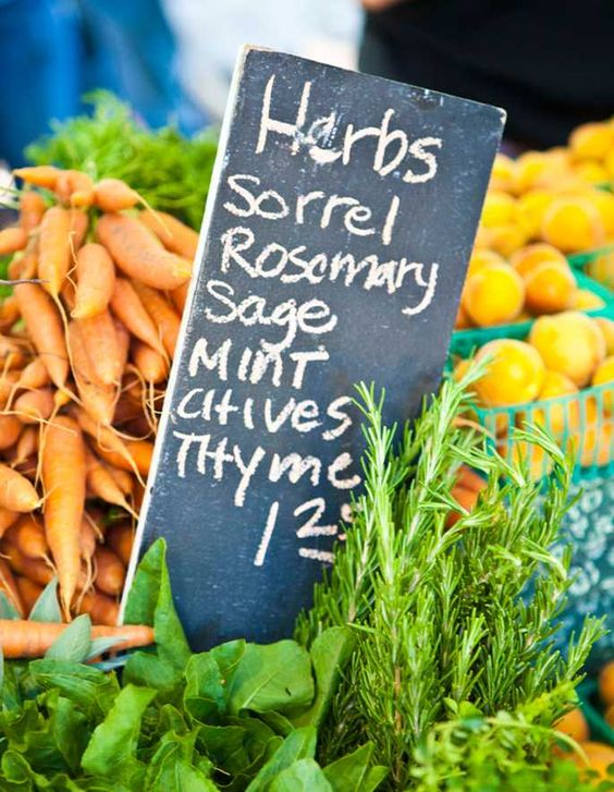 Fresh produce and herbs at The Original Farmer's Market in Los Angeles | Girlfriend is Better
