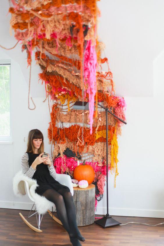 Multi-colored macrame wall hangings   Girlfriend is Better