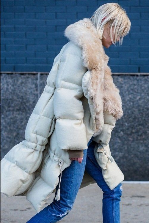 Long fur-lined puffer coats for Fall and Winter | Girlfriend is Better