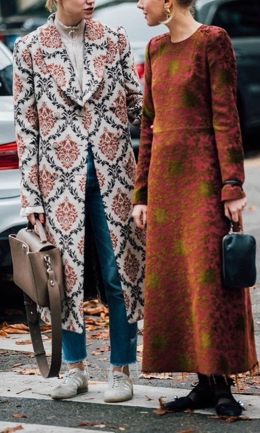 Long embroidered coats for Fall and Winter work wear | Girlfriend is Better
