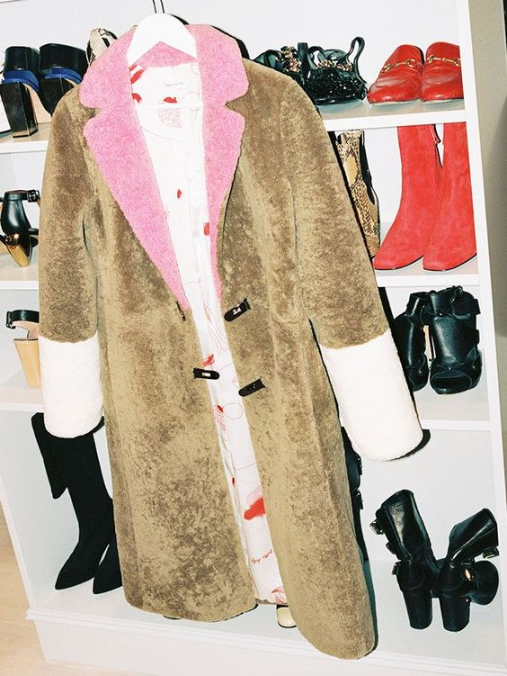 Camel shearling color block coats for Fall and Winter | Girlfriend is Better